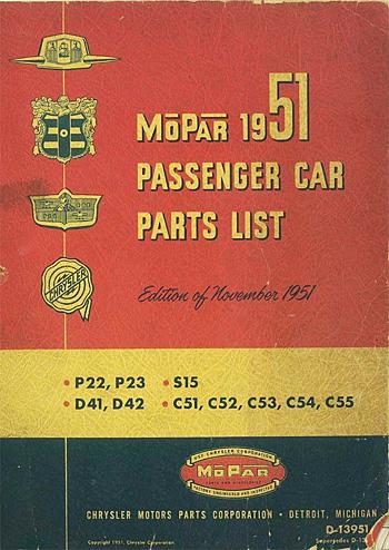 Parts List Books